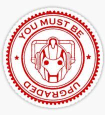 Cybermen Rubber Stamp Sticker
