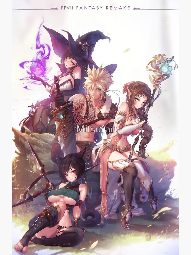 Final Fantasy VII Remake by Mitsu-art