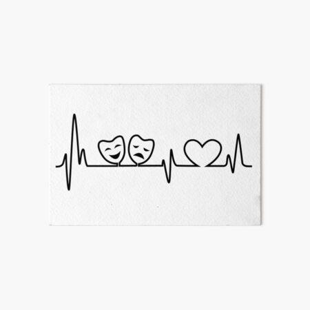 Theatre In Heartbeat Art Board Print