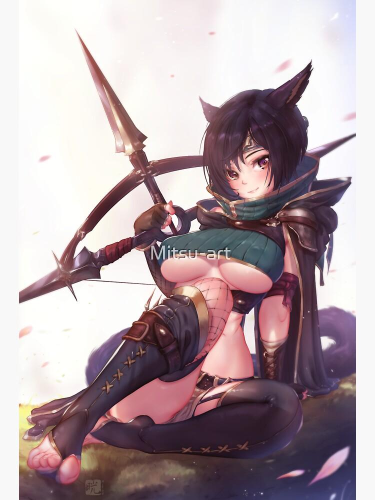 Yuffie Neko girl | Final Fantasy VII by Mitsu-art