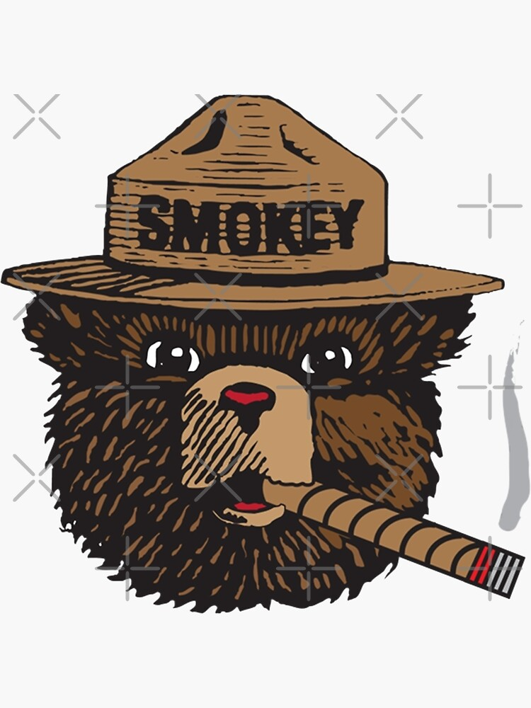 Smokey The Bear Vector in Color by Elliot-Four