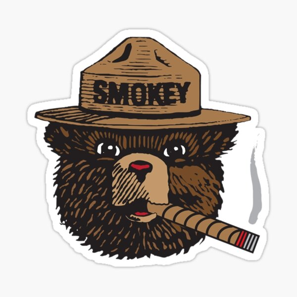 Smokey The Bear Vector in Color Sticker