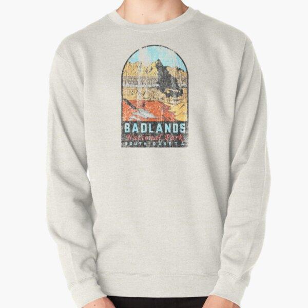 Badlands National Park Vintage Travel Decal Pullover Sweatshirt