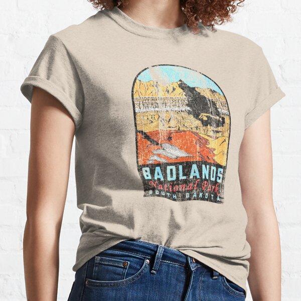Badlands National Park Vintage Travel Decal Classic T-Shirt