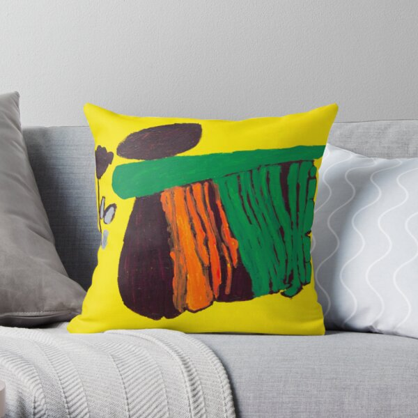 Carlos Untitled (Yellow) Throw Pillow