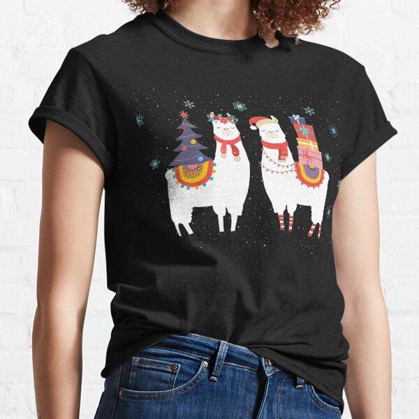 llama Christmas - alpaca christmas Classic T-Shirt