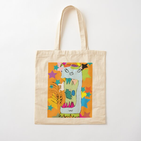 Candy Monster Cotton Tote Bag