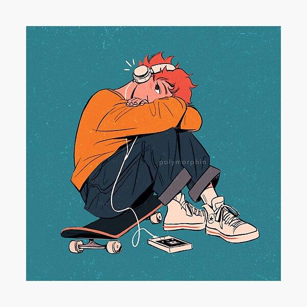 skater hinata resting v2 Photographic Print