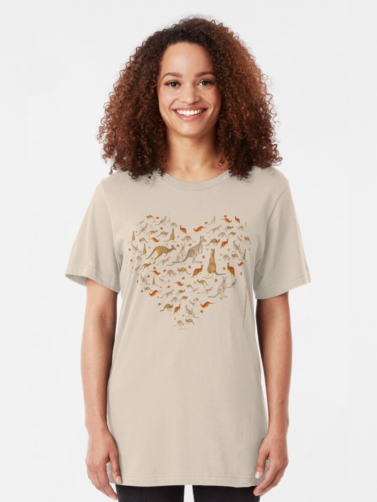 Alternate view of Kangaroo Heart Slim Fit T-Shirt