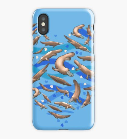Platypus Heart iPhone Case