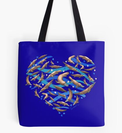 Platypus Heart Tote Bag