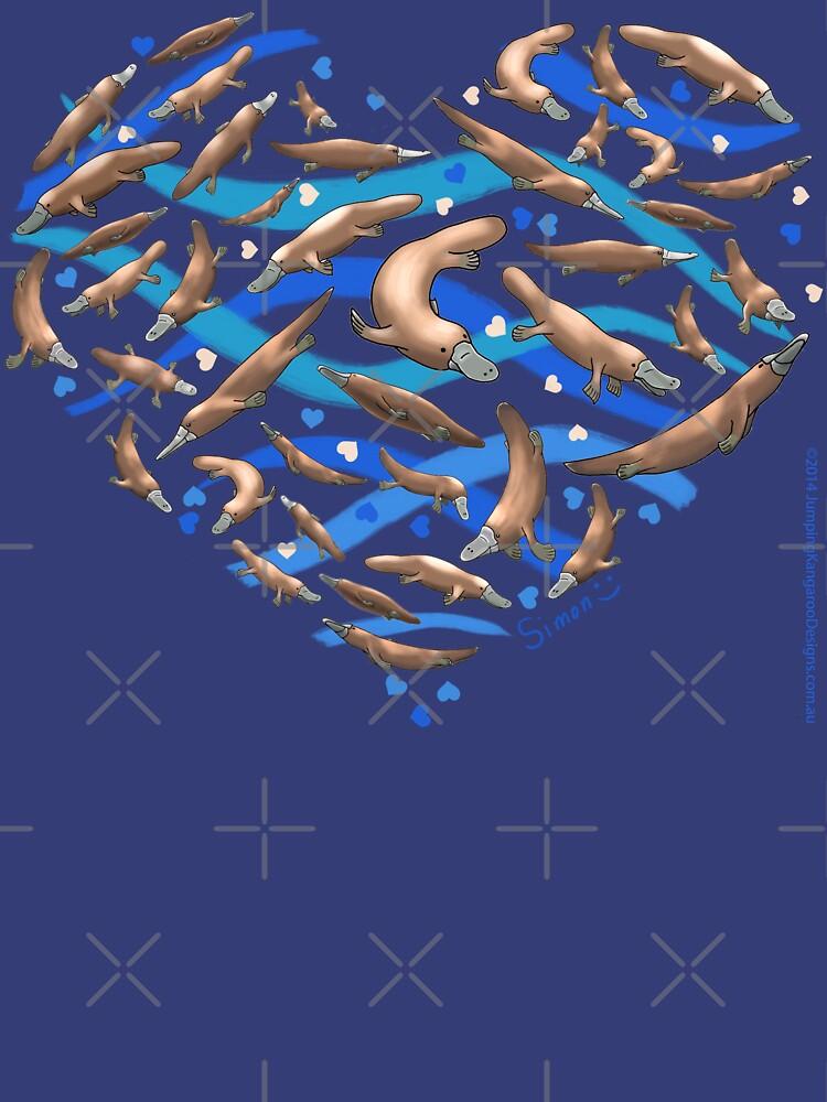 Platypus Heart by JumpingKangaroo