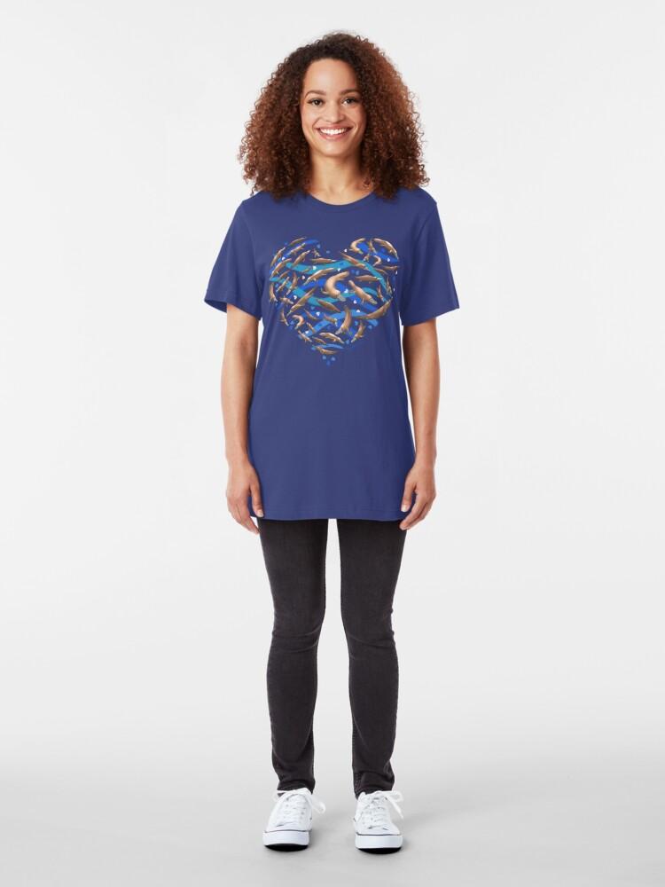 Alternate view of Platypus Heart Slim Fit T-Shirt