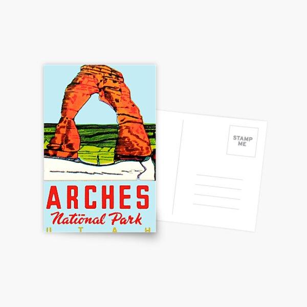 Arches National Park Utah Moab Vintage Travel Decal Postcard