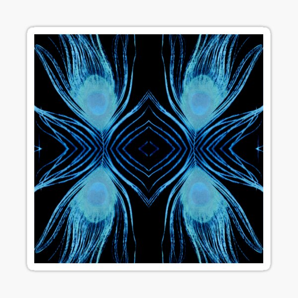 Peacock Night Sticker