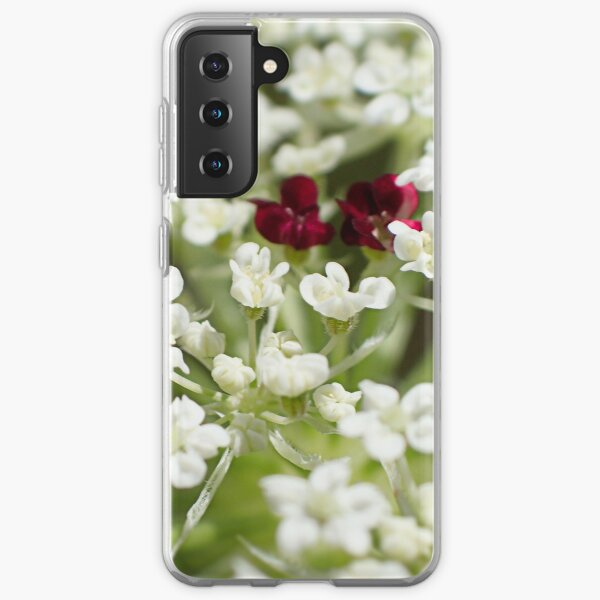 Queen Anne's Lace Flower Close Up Samsung Galaxy Soft Case