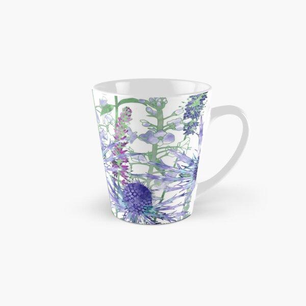 Sea Holly & Veronica Flowers Tall Mug