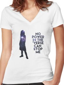 River Tam - No Power in the 'Verse Women's Fitted V-Neck T-Shirt