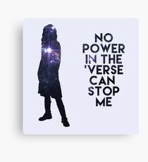 River Tam - No Power in the 'Verse Canvas Print