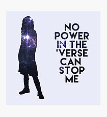 River Tam - No Power in the 'Verse Photographic Print