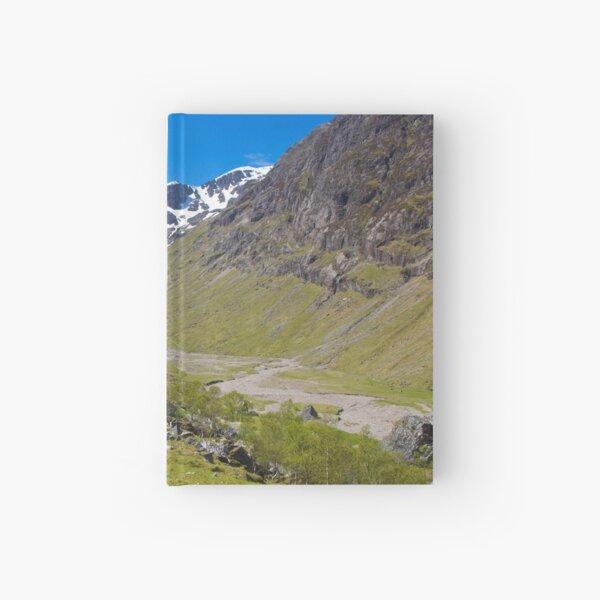 "The ""Hidden Glen"" in Glencoe, Scotland. Hardcover Journal"