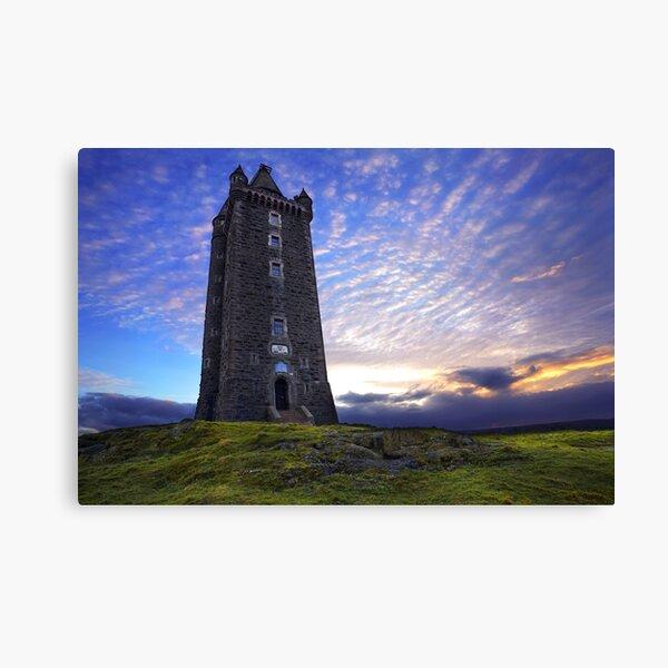 Atardecer en la torre Scrabo - Newtownards Lienzo
