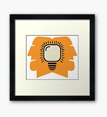 creative idea concept Framed Print