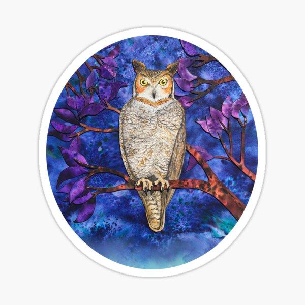 Autumn Owl in the Plum Tree Sticker