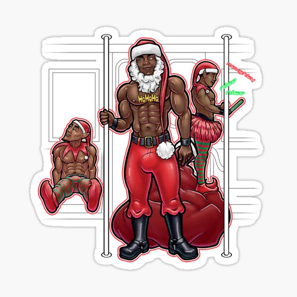 Santa Honey Sticker