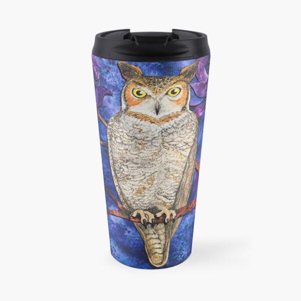 Autumn Owl in the Plum Tree  Travel Mug