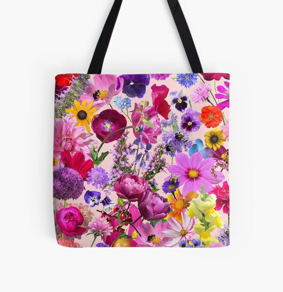Dreaming up a Garden All Over Print Tote Bag