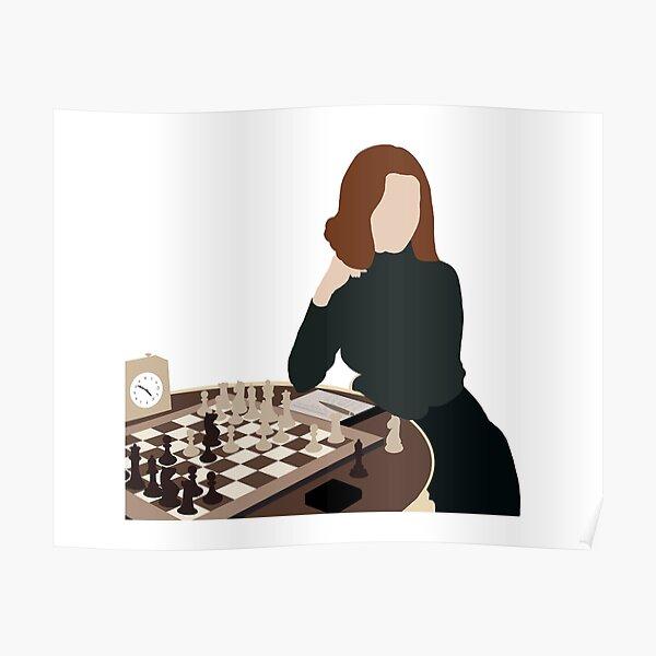The Queen's Gambit illustration Poster