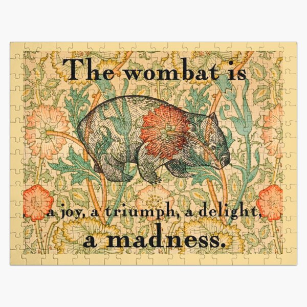 Ode to a Wombat Jigsaw Puzzle