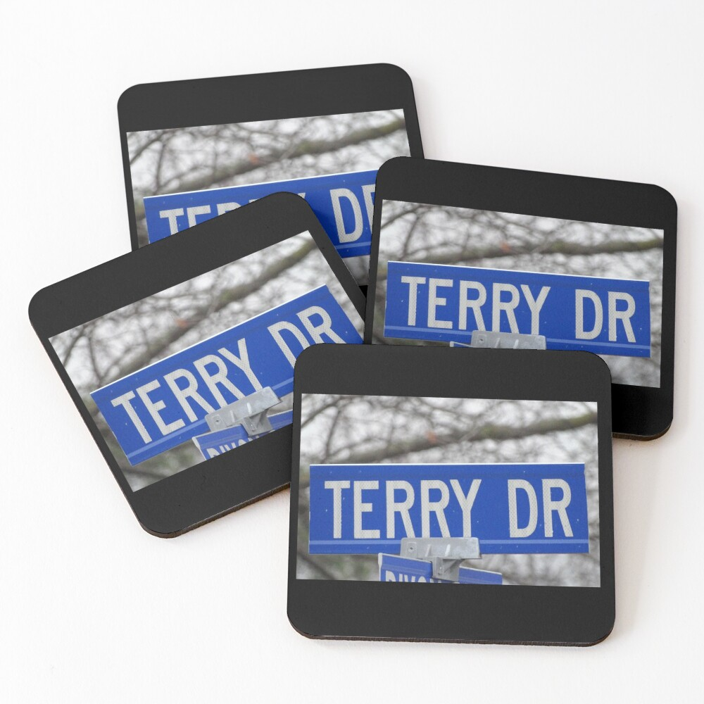 Terry, Terry mask, Terry socks, Terry magnet, Terry sticker  Coasters (Set of 4)