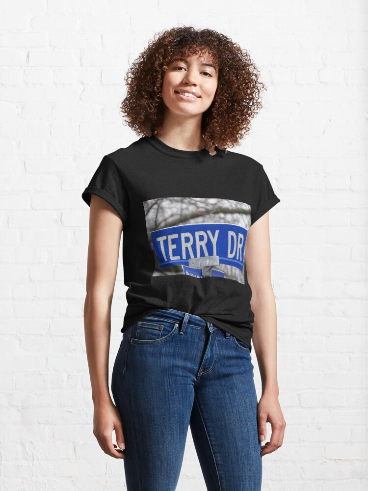 Alternate view of Terry, Terry mask, Terry socks, Terry magnet, Terry sticker  Classic T-Shirt