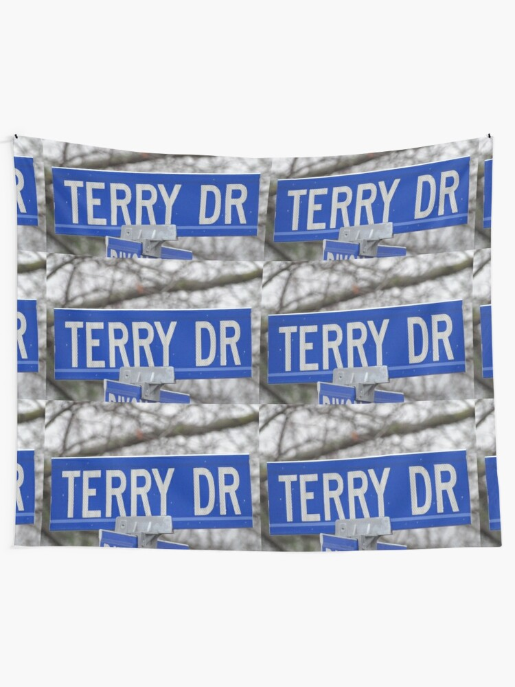 Alternate view of Terry, Terry mask, Terry socks, Terry magnet, Terry sticker  Tapestry