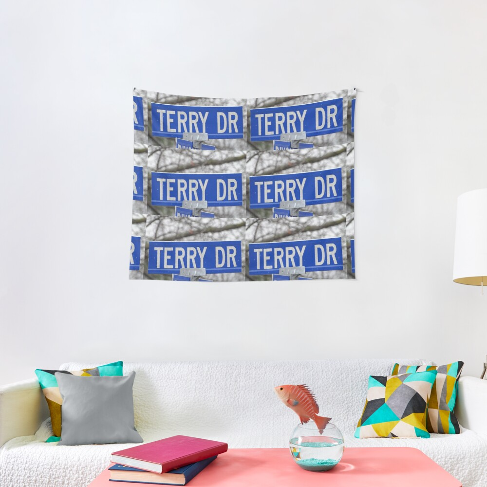 Terry, Terry mask, Terry socks, Terry magnet, Terry sticker  Tapestry