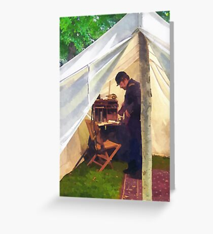 Civil War Officer's Tent Greeting Card