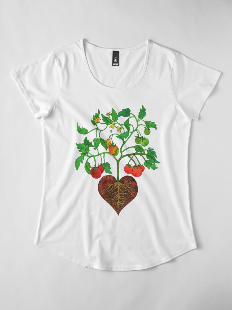 Alternate view of Tomatoes Heal My Heart  Premium Scoop T-Shirt