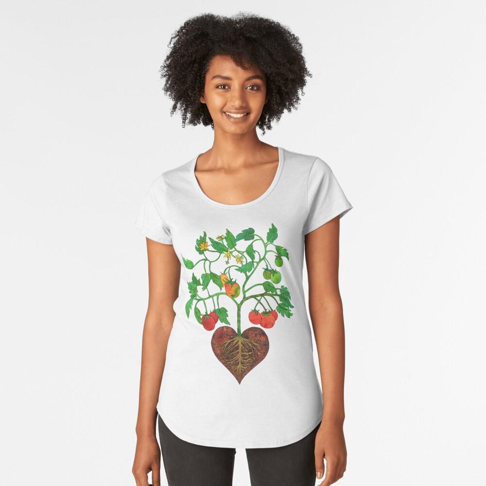 Tomatoes Heal My Heart  Premium Scoop T-Shirt