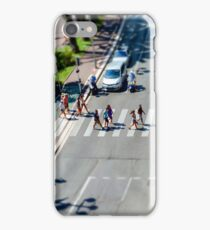 Pedestrian zebra across the street. Tilt shift view. Nice, France iPhone Case/Skin