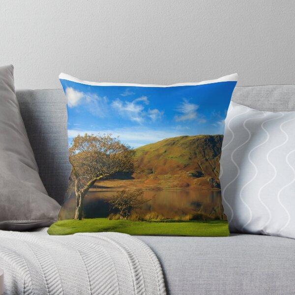 Autumn colours on the Lake Throw Pillow