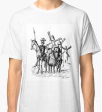 Don Quixote and Sancho Panza ink drawing Classic T-Shirt