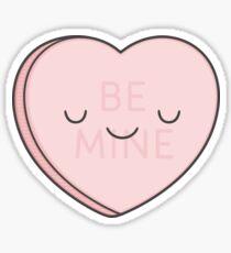 Pink Candy Heart Sticker