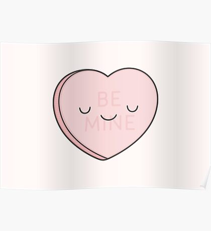 Pink Candy Heart Poster