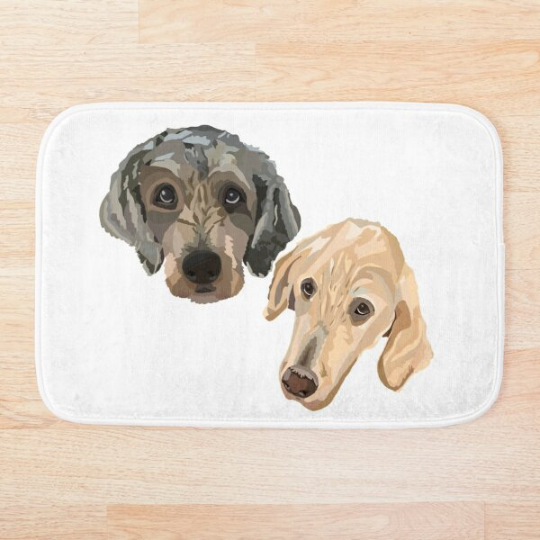Sophie and Norman the doodles Bath Mat