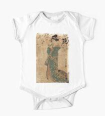 Flower - Toyokuni Utagawa - c1805 - woodcut One Piece - Short Sleeve
