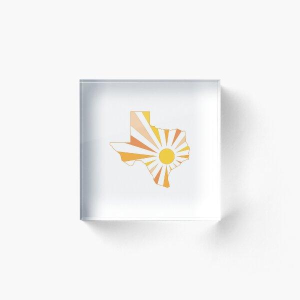 Texas Sun Acrylic Block