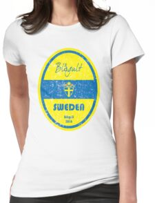 Euro 2016 Football - Sweden Womens Fitted T-Shirt