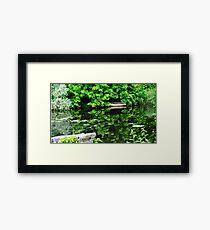 Reflecting Boat Sides Framed Print